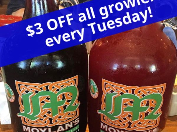 $3 off all growlers all day!