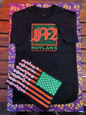 NEW - Black Shamrock Flag Shirt
