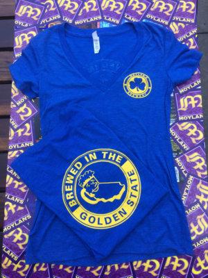 Ladies Blue V-Neck Shirt
